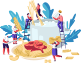 滑蛋虾仁烩饭